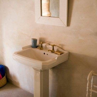 How to Hide Pedestal Sink Plumbing