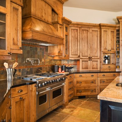 How to Decorate Around Natural Wood Kitchen Cabinets
