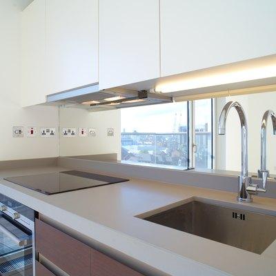 Modern kitchen in luxury apartment
