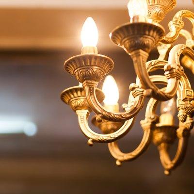 old decorative chandelier