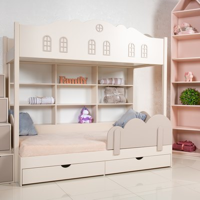 Interior of children room with bunk bed