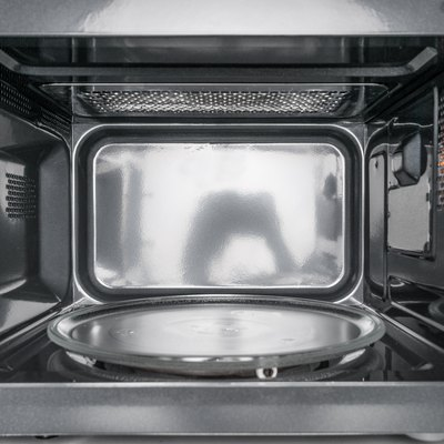Inside view of clean, empty microwave