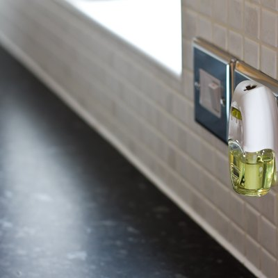 An air freshener plugged in the kitchen