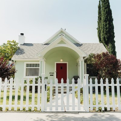 White Picket Fence Before House