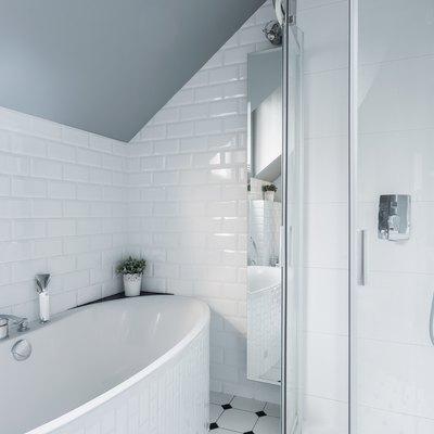 Exclusive white bathroom