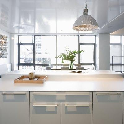 Modern kitchen in luxury highrise apartment