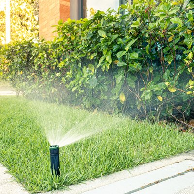 Automatic sprinkler system watering
