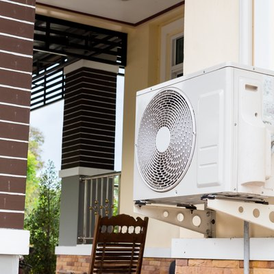 air conditioning fixed to a wall