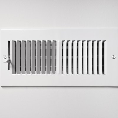 White sidewall or ceiling register