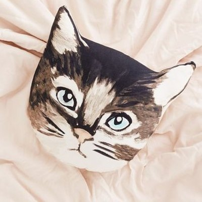 Plum & Bow Cat Pillow
