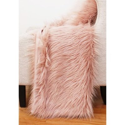 Petties Mongolian Faux Fur Throw