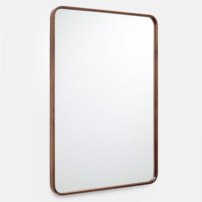 Solid Walnut Rectangle Mirror