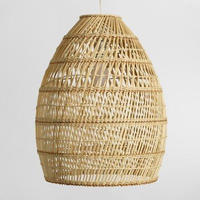 Basket Weave Bamboo Pendant Lamp