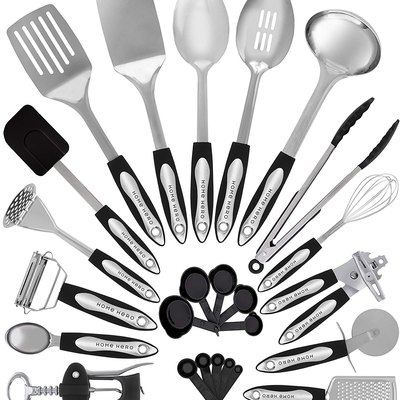 HomeHero Stainless Steel Kitchen Utensil Set