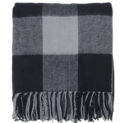 Buffalo Plaid Checkered Tassel Throw Blanket