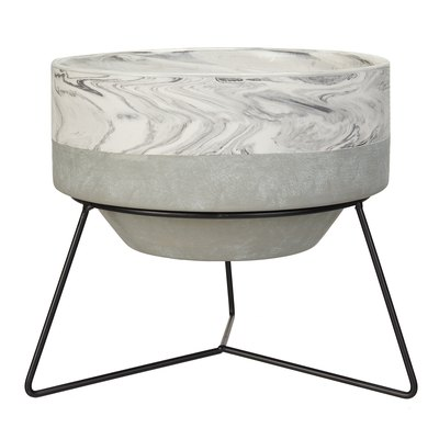 Better Homes & Gardens Yana Pot with Stand in Marble/Concrete