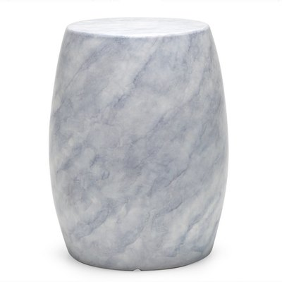 MoDRN Faux Marble Outdoor Garden Stool