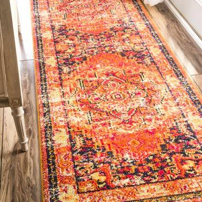 Orange Center Medallion Area Rug