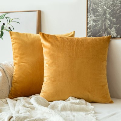 Miulee Velvet Soft Square Throw Pillow Covers