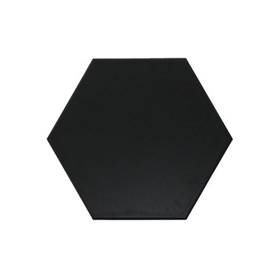 Bedrosians Anthologie Black Porcelain Deco Floor Tile