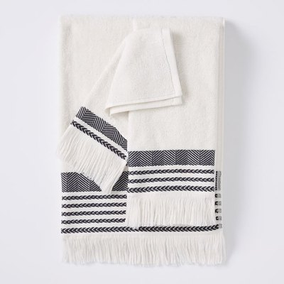 Boho Fringe Bath Towels