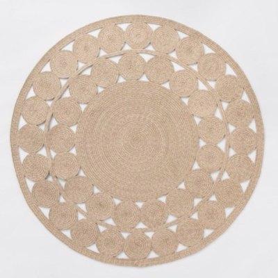 Opalhouse Round Ornate Woven Rug