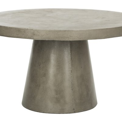 Safavieh Delfia Indoor & Outdoor Modern Concrete Round Coffee Table