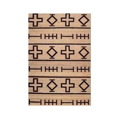 Natural Native Symbols Berta Area Rug