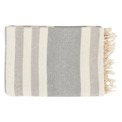 Surya Troy Smooth Stripe Throw