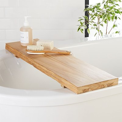 Live Edge Wood Bath Caddy