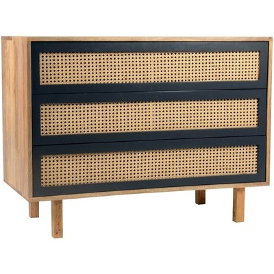 Matt Lacquer Natural Mango Wood Mid-century Modern Chest