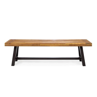 Christopher Knight Home Colonial Rustic Metal Bench