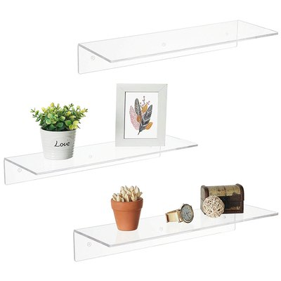 Clear Acrylic Floating Shelves