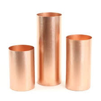 Rose Gold Metal Cylinder Candle Holders