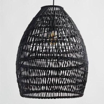 Black Woven Bamboo Pendant
