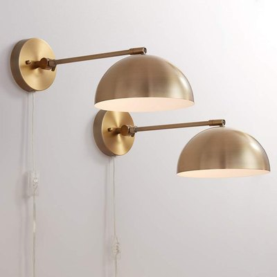 Brava Antique Brass Sconce, Set of Two