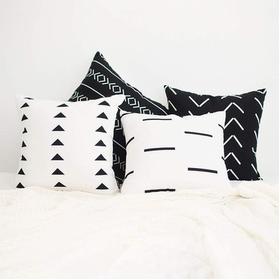 Homfiner Mudcloth Throw Pillow Covers Set