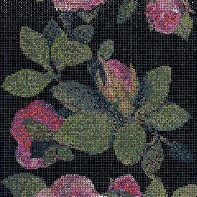 Bisazza Decorations 'Springrose' Italian Glass Mosaic Tile