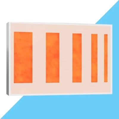 'Modern Art - Orange Levies' Print