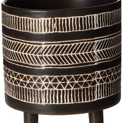 Bloomingville Round Stoneware Flower Pot