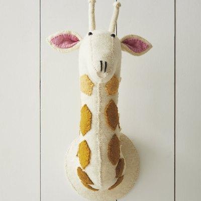 Felted Wool Wall Animal – Ombré Giraffe