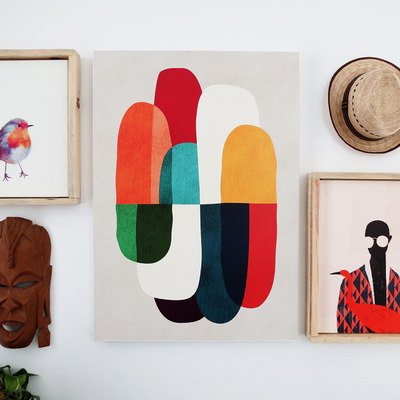 A Fresh Way To Showcase Canvas Prints: DIY Floating Frames