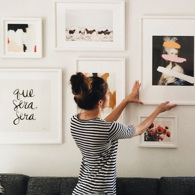 Eyes Up Here: 5 Tips For Turning A Gallery Wall Into A Focal Point