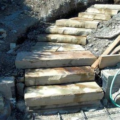 How to Build Stone Block Steps on a Hillside