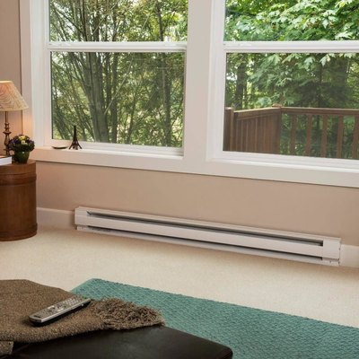 An electric heating system on the floor of a living room