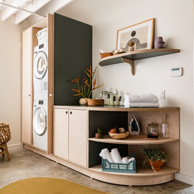 beautifully decorated laundry room