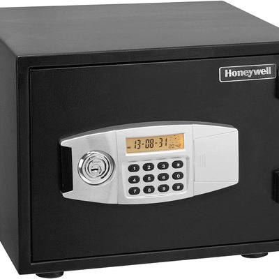 Honeywell 2111 Steel Fireproof Water Resistant Security Safe With Dual Digital Lock and Key Protection, Black