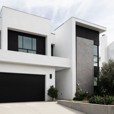 Black and white minimalist-modern house