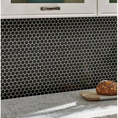 Penny Porcelain Penny Mosaic Wall Tile: