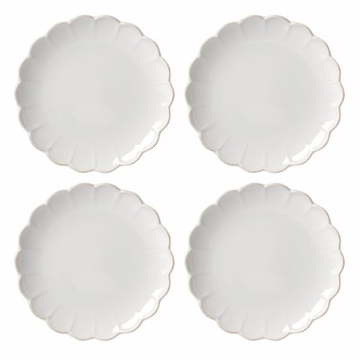French Perle Scallop 4-Piece Accent Plate Set